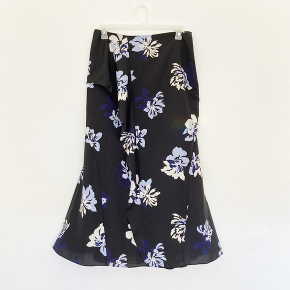 NEW Banana Republic Flounce Floral Maxi Skirt Sz 8